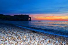 Porte d'Aval at sunset by Julia  Apostolova on 500px