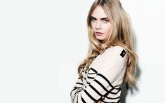 Cara Delevingne White Sweater and Long Hair Wallpaper - HD Wallpapers - Free Wallpapers - Desktop Backgrounds