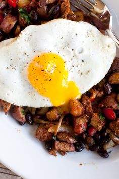 Smoky Chorizo Hash and Eggs- This was so awesome! Reasonably easy and delicious!