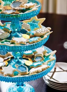 Hanukkah Cookies by Jennifer Bartoli Style At Home Photo: Donna Griffith Styling: Jessica Waks