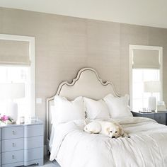 Neutral Bedroom. Neutral Bedroom Ideas. Neutral Master Bedroom. Pink Peonies.