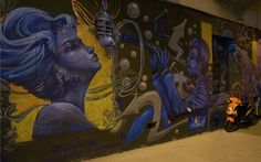 san francisco bay area, san francisco, night photography, divisadero, street art