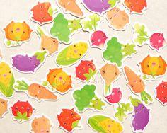 Vegetable Stickers. Vegetarian Sticker. Sticker by BeagleCakesArt
