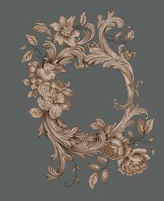 Border Design, Baroque, Moulding, Elegant, Digital, Frame, Floral, Places, Board