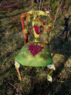 Great project idea - felted chairs! Gallery.ru / Photo # 5 - FELT FURNITURE - renew