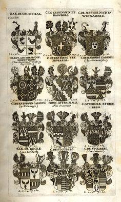 Spener, Philipp Jakob: Historia Insignium Illustrium Seu Operis Heraldici Pars Specialis. - Frankfurt <Main>, 1717. Jpg, Frankfurt, Maine, Photography, Guns, Coat Of Arms, History, Mannheim, Crests