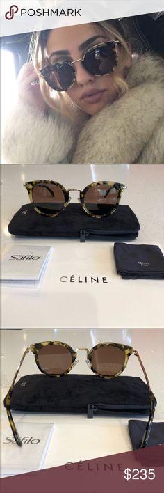 ac626ff006ee Celine sunglasses Celine round sunglasses Color lea brown Havana 100% new  and authentic guaranteed.