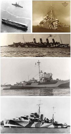 Reality Check: 10 Practical Applications of Illusions Dazzle Camouflage, Camouflage Patterns, Military Camouflage, Razzle Dazzle, Submarines, Model Ships, Royal Navy, Battleship, Op Art