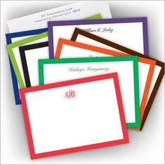Bold Bordered Correspondence Cards