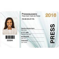 Presseausweis online bestellen! Daten eingeben, Foto hochladen und liefern lassen. Viel Spaß beim Bestellen :)