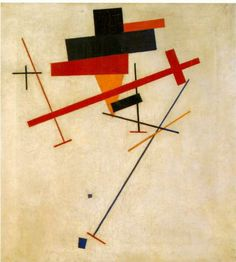 Suprematist Painting by artist Kazimir Malevich , 1916