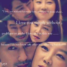 """""""It's Okay, It's Love"""" """"It's Okay, That's Love"""" Gong Hyo Jin Jo In-Sung #love // is this dialogue in this scene?"""