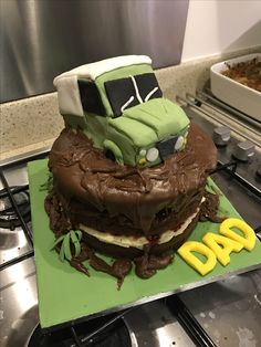 Land Rover stuck in the 'mud' for my father in laws 60th. Made by me