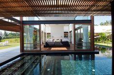 Modern open glass home