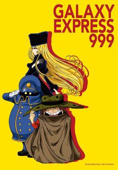 Space Pirate Captain Harlock, Galaxy Express, Japanese Cartoon, China Girl, Light Novel, Anime Art, Tumblr, Poster, Vintage