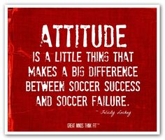 #Soccer #poster in red with a #quote for #motivation.