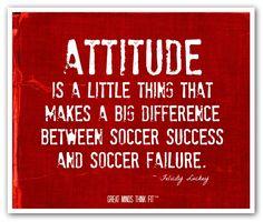 Red Soccer Attitude Poster