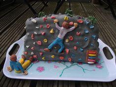 Bouldering cake / Rock wall cake