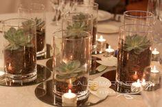 centros de mesa de boda con crasas