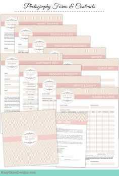 photography forms--- templates for photographers - invoice, image, Invoice templates