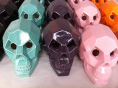 awesome cubic ceramic skulls.