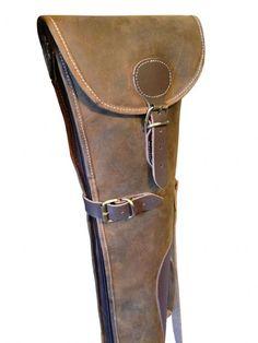 John Shooter - Distressed Brown Leather Shotgun Slip