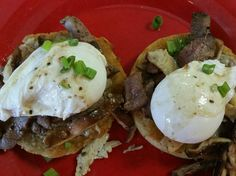 Wolferman's English muffins toasted with froe gras butter topped with poached eggs and duck and shiitake mushrooms sauteed in truffle oil SPECIALEST OF SPECIALS!  Holly's Gourmets Market  #Knoxville #Catering #Wedding #Lunch #Breakfast #Restaurant