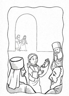 Jesus in the Temple Coloring | jesus finding in the temple