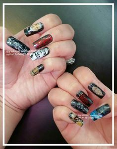 Painted Nail Art, Hand Painted, Star Wars Nails, Empire, Facebook, Stars, Painting, Beauty, Painting Art