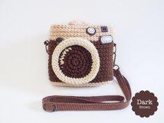 Crochet Vintage Camera Instax Mini's Case by meemanan on Etsy