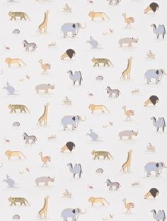 Two By Two Childrens Wallpaper 214042 from Little Sanderson. A wonderful motif of African Animals paired & labelled. A design that will teach your child while adding some style to their room. Colour: Neutral Roll Size: X Repeat: Wallpaper Online, Kids Wallpaper, Animal Wallpaper, Neutral Wallpaper, Feature Wallpaper, Elisabeth Ii, Animal Magic, Fashion Wallpaper, African Animals