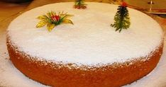 A delicious vasilopita recipe, infused with the aromas and blends of oranges and garnished with a thick and glossy vanilla scented sugar glaze or sprinkled with icing sugar! Vasilopita is a traditi. Greek Christmas, Christmas Sweets, Christmas Goodies, Christmas Time, Christmas Signs, Vasilopita Cake, Sweets Cake, Cupcake Cakes, Xmas