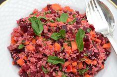 quinoa, carrot, beetroot, ginger