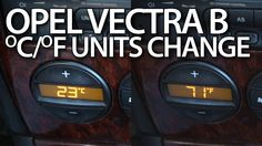 How to change #temperature units #Opel #Vectra B #Vauxhall #Celsius #Fahrenheit #Climatronic #cars