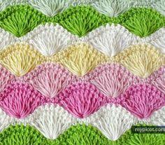 [Free Pattern] Lernen Sie eine neue Crochet Stich: lange Schleife Shell-Stich