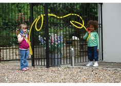 Just hook the two hand sets into the ends of the strong, yellow, hollow, flexible tubing and start talking. Wrap tubing around playground structures or into our Frameworks to encourage children to communicate. Flexible Tubing, Alex Toys, Nursery School, Outdoor Classroom, Interactive Learning, Language Development, Personal Development, Learning Environments, Eyfs