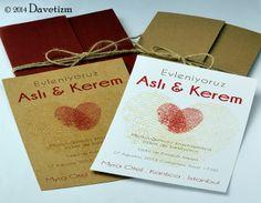 Davetizm, Düğün Davetiyesi, R01, Romance, Davetiye, Tasarım, Wedding, Invitation, Design, Fingerprints, Parmak İzi