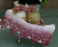 Kit na banheira - rosa seco