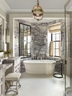 Antalyan Lilac clad bathroom by Steven Gambrel