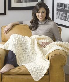 Ravelry: Quick Knit Blanket pattern by Coats & Clark