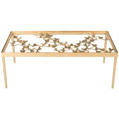 Safavieh Antique Gold Leaf Renee Butterfly Coffee Table (€270) ❤ liked on Polyvore featuring home, furniture, tables, accent tables, safavieh, safavieh coffee table, butterfly table, safavieh home furniture and safavieh furniture
