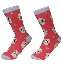 Dog lovers can stay cozy and look cool in these soft and colorful crew socks. Dog Socks, Crew Socks, Jade Face Roller, Dogs Golden Retriever, Golden Retrievers, Massage Roller, Dog Activities, Novelty Socks, Look Cool
