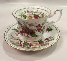 Royal Albert Christmas Rose Teacup and Saucer Set | eBay ( saucer only)