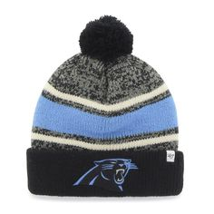 47 Brand Carolina Panthers Breakaway Knit Beanie - Black  3d452a6e4