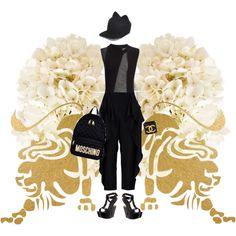 Cha Khan inspiration 3 by angstylist on Polyvore featuring polyvore, moda, style, Joseph, STELLA McCARTNEY, Giuseppe Zanotti, Moschino, Chanel, Maison Michel, Dot & Bo and Oliver Gal Artist Co.