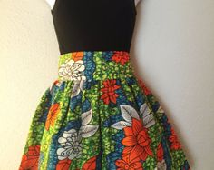 African Print Skirt by PurpleJuly on Etsy