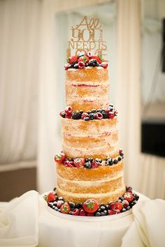 delicious crumb coat wedding cake | www.onefabday.com