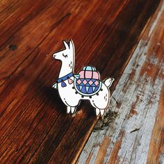 Alpaca Hard Enamel Lapel Pin // LIMITED