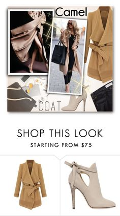 """""""Wear a Camel Coat!"""" by matildiwinky ❤ liked on Polyvore featuring Jimmy Choo and MANGO"""