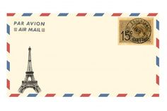 Air Mail Envelope Eiffel Tower Airmail Envelopes, Memo Notepad, Page Borders Design, Phone Screen Wallpaper, Tumblr Stickers, Printable Letters, Aesthetic Stickers, Travel Themes, Free Prints